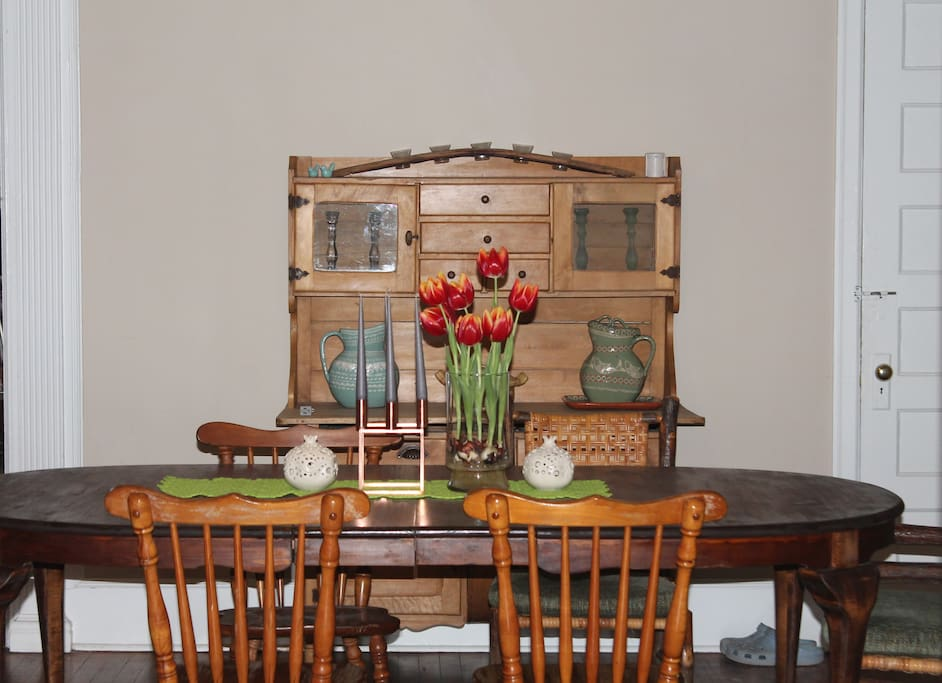 Dining room - table seats 8