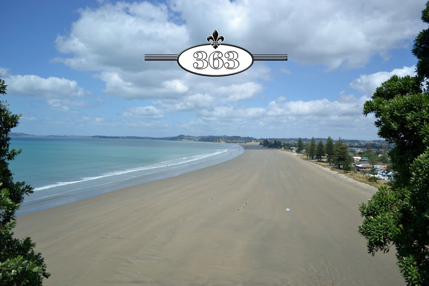 Orewa beach from lookout.