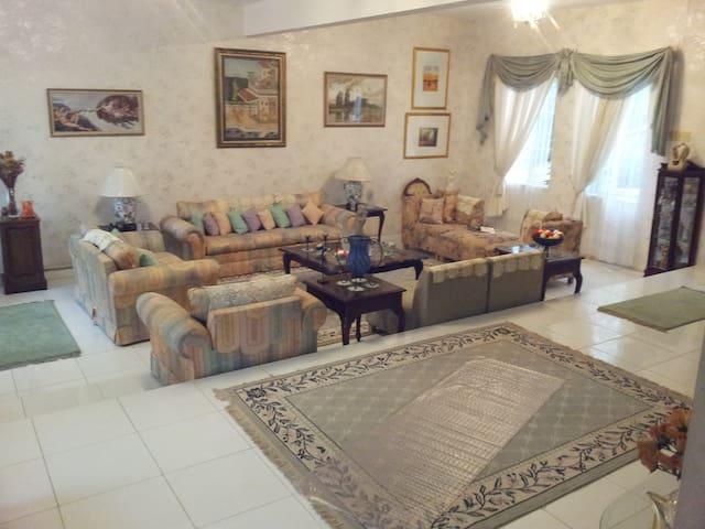 Spacious Lounge, double aspect windows,