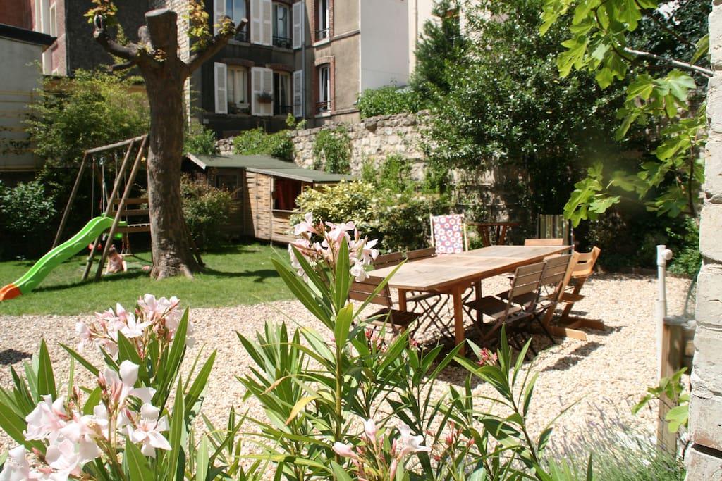Appartement familial calme sur jardin privatif - Mobilier jardin grenoble boulogne billancourt ...