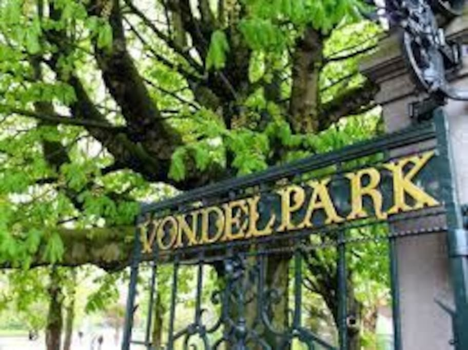 The most popular park of Amsterdam on walking distance.