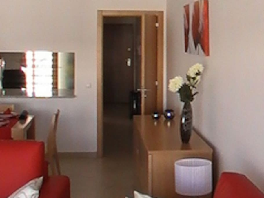 We have lots of room - and the tiled floor and air-conditioning mean the apartment stays cool in the summer.