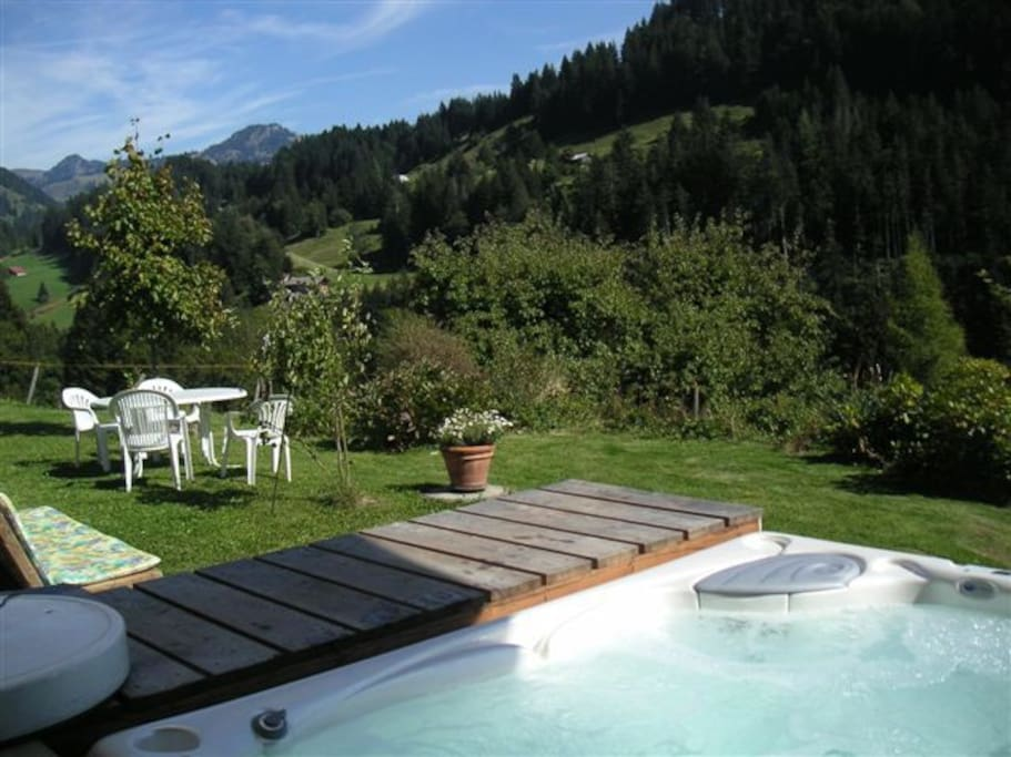 Jacuzzi in summer