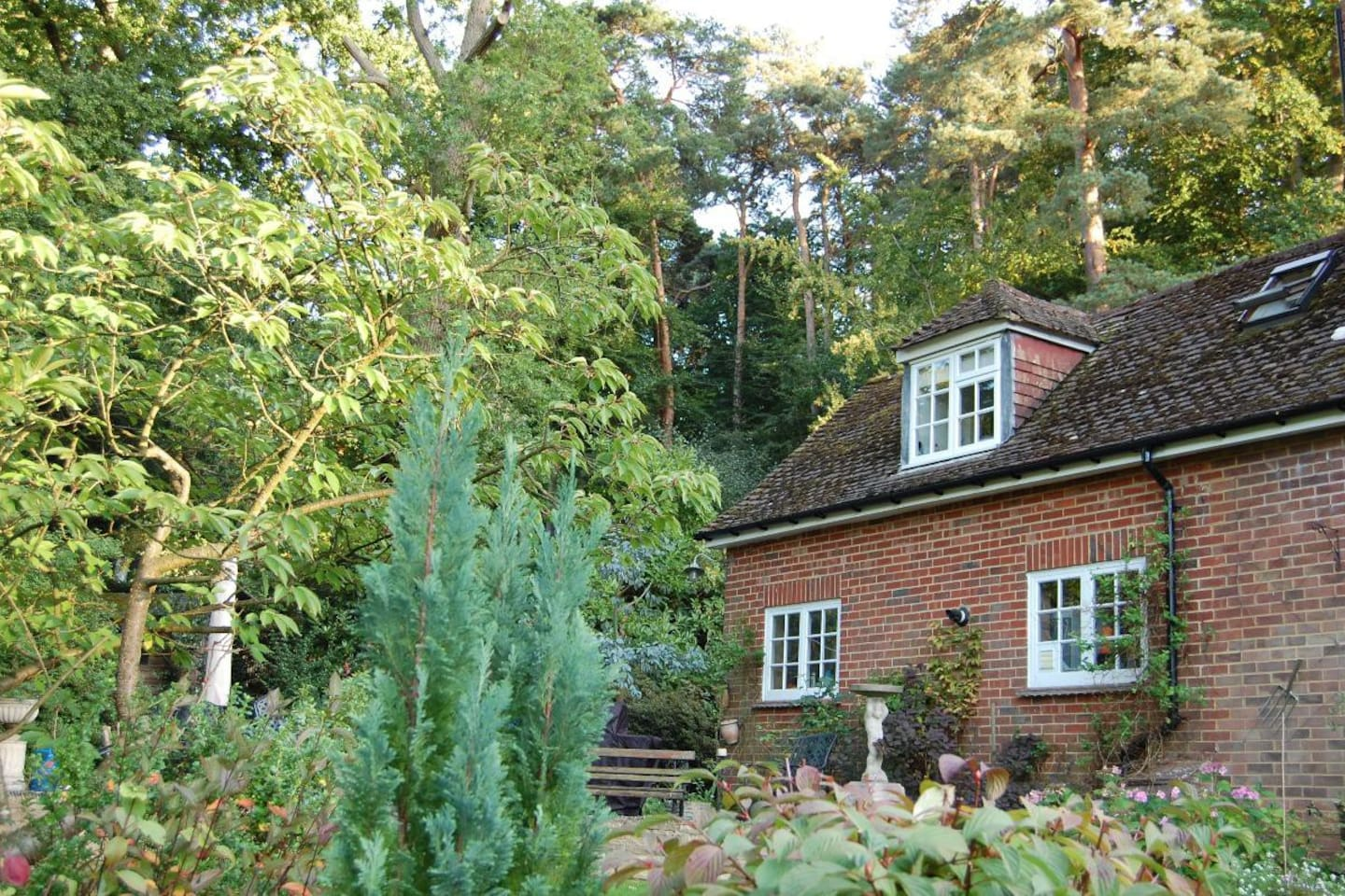 The Haven is above our garage and overlooks the garden.  The window above here, is from the kitchen area.  Entrance to the Haven is through a separate door, next to our garage and can be seen on the main house photo.