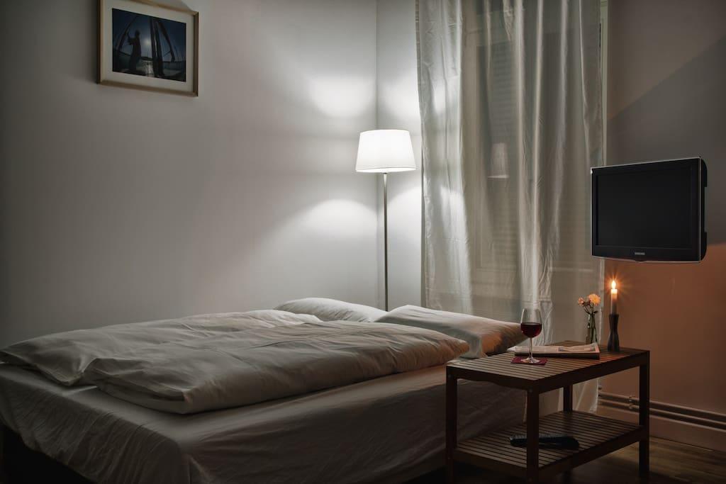 Apartment bei Nacht