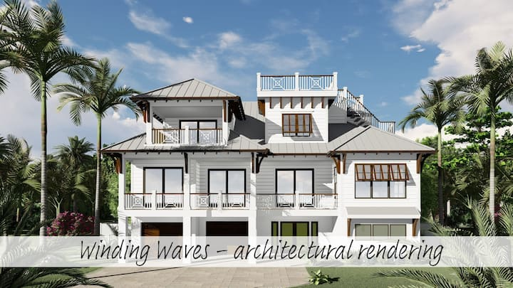 Winding Waves - destination: relaxation! Brand new home 1 min from beach!