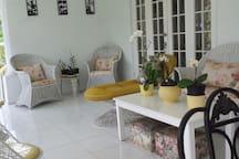 Back veranda seating area