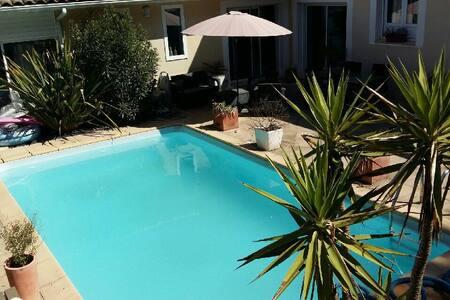 villa avec piscine chauffée 8 personnes - Labenne - 別荘