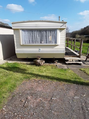 Rural mobile home, Lyme Regis, West Dorset.