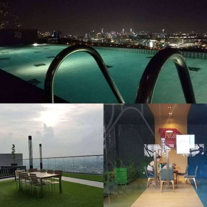 Experience our KL City view sky pool, sky Jacuzzi and sky dining. Public reading room for the guest.