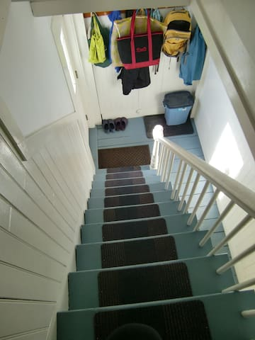 The stairs to the room, used by our guests. Note: these a steep. Don't book us if you have mobility issues.