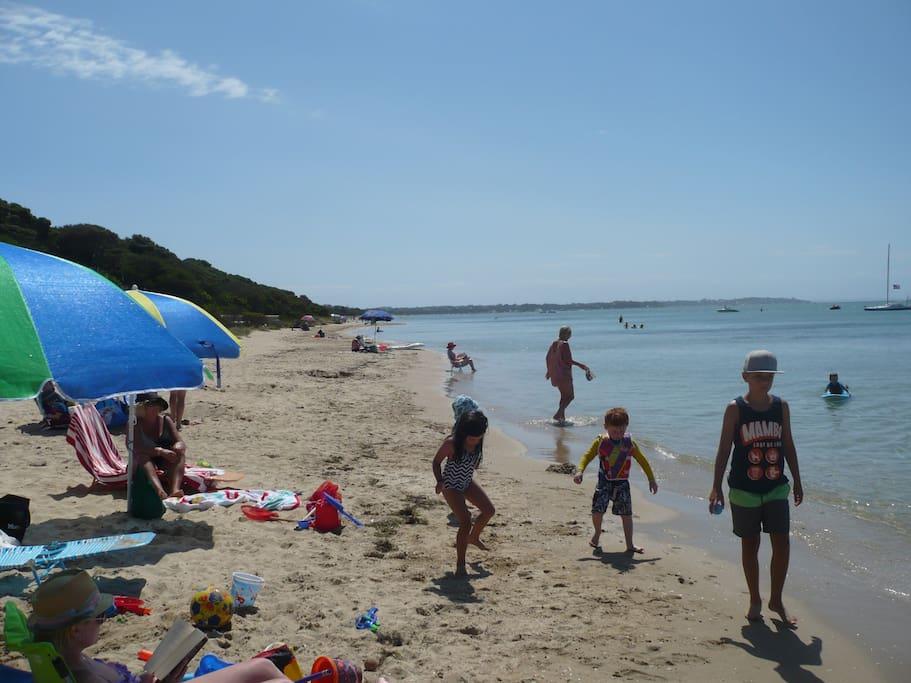 Enjoy the sun. Good safe kids beach only a 2 min walk away.