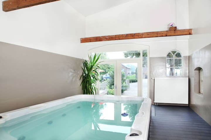 Comfortably furnished with swim spa and sauna