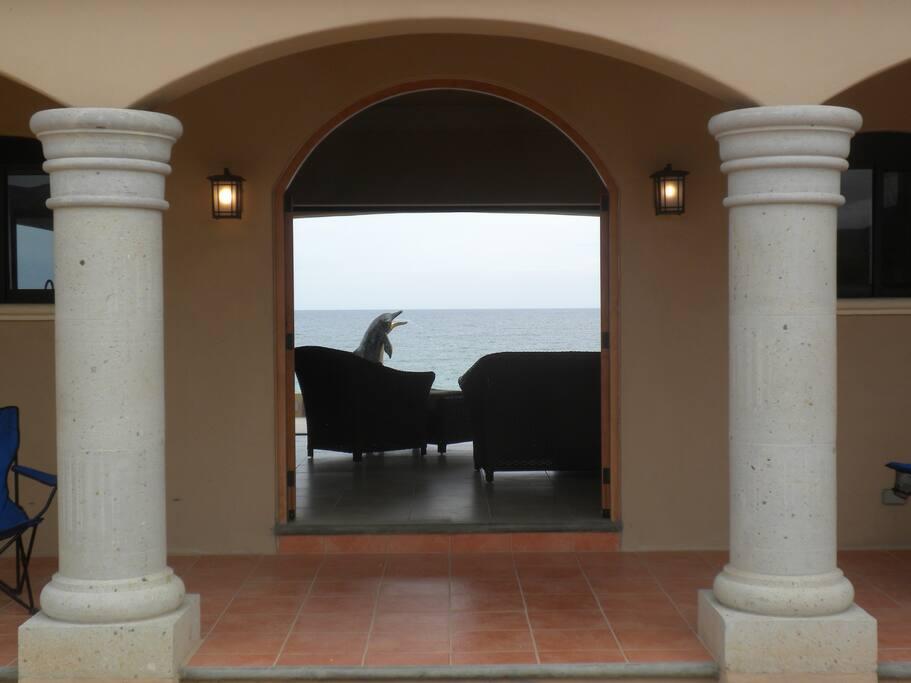 Breathtaking ocean view as you open the front door