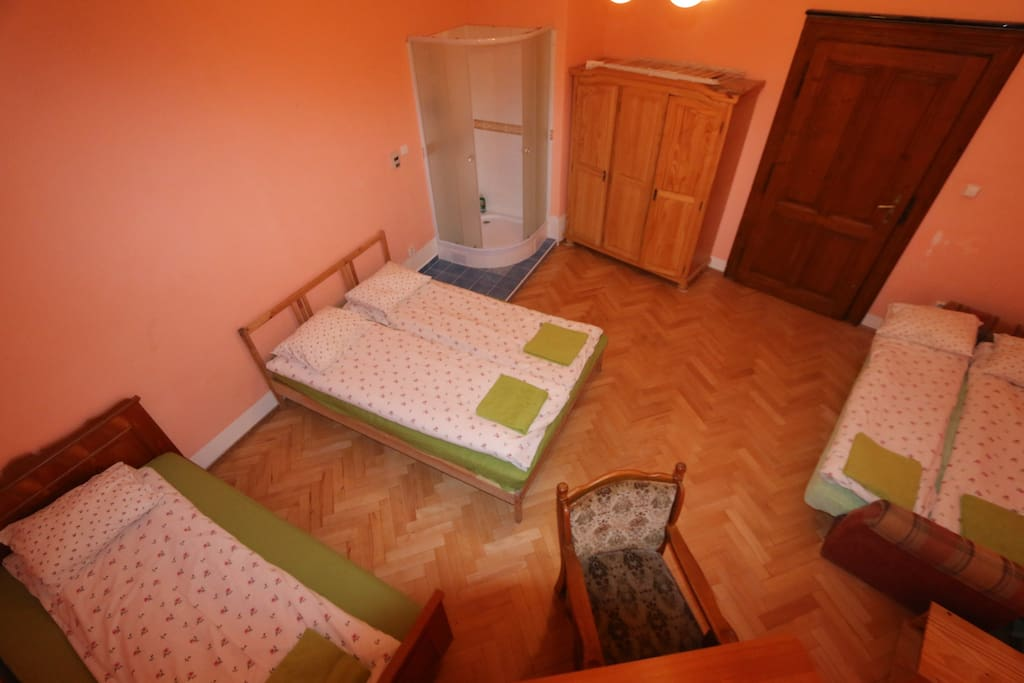 Your bedroom 1PL1 with 5 beds, writing table +chair ,wardrobe, prepared for 5