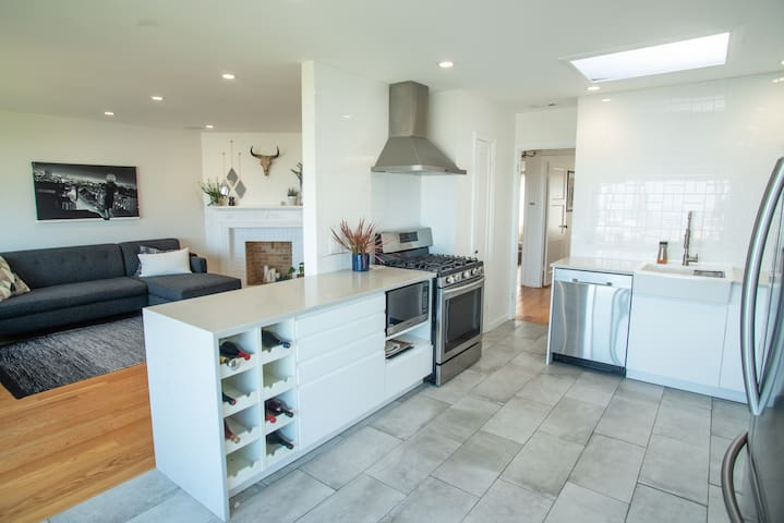 Big open, shared kitchen