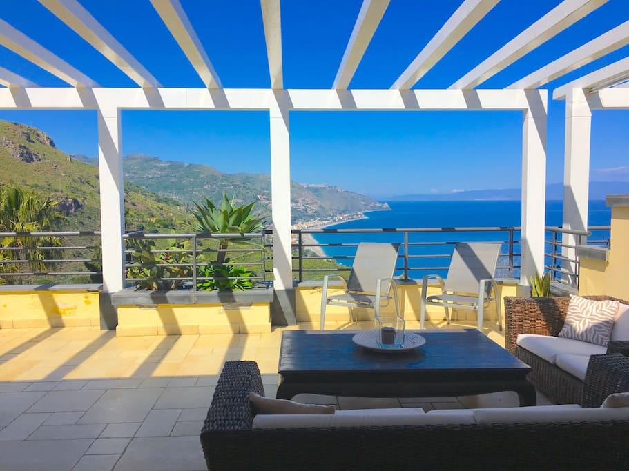 PANORAMIC PENTHOUSE  Terrace Pool + View Taormina