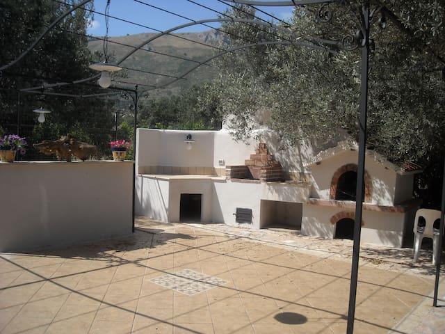 veranda esterna barbecue