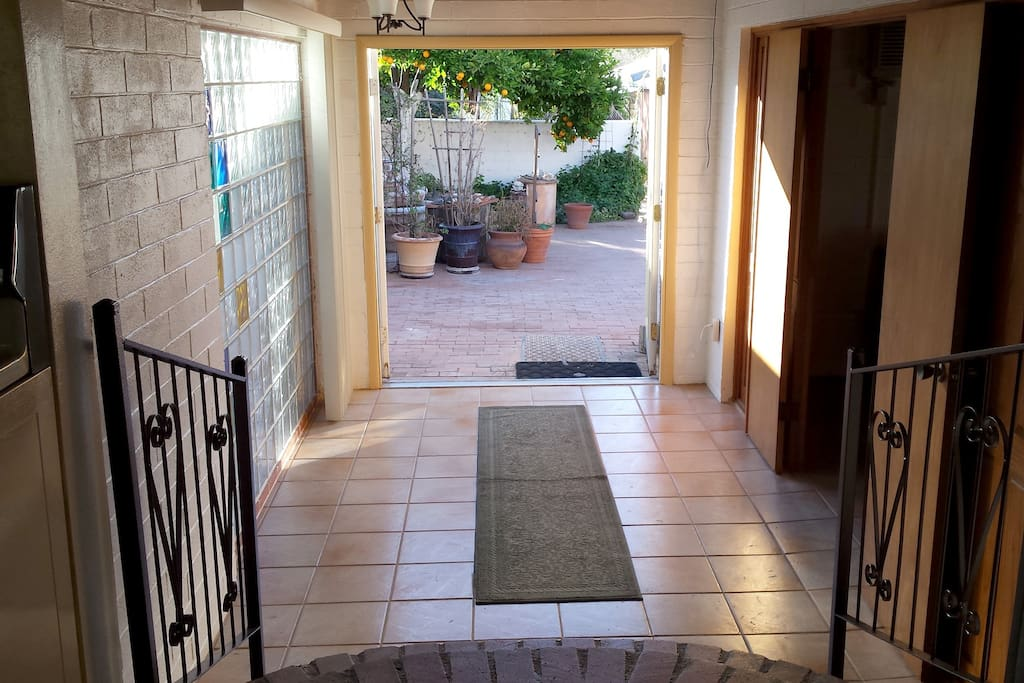 foyer to back patio