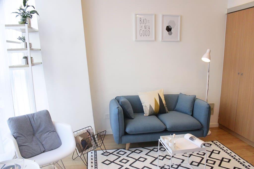 客厅/舒适沙发与美学设计杂志
