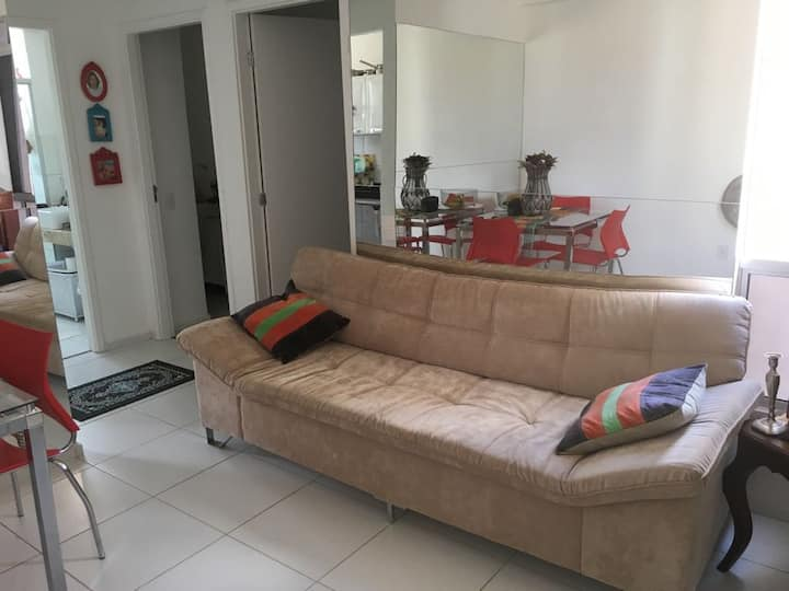 Apartamento completo, novo e aconchegante