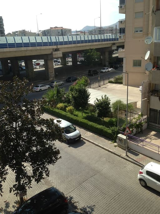 to anywhere of city(alsancak downtown, city bus station, karsiyaka) from my home 100 m ayaw under the brdge you will find busstop.