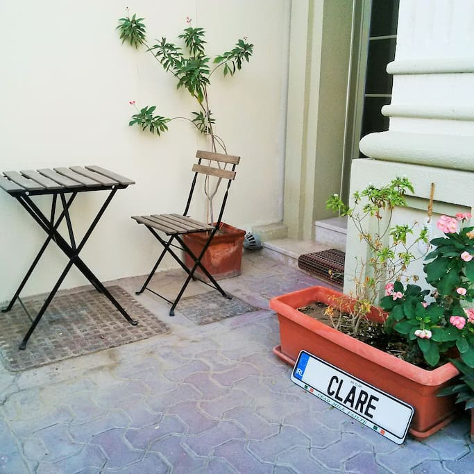 your own terrace table and chairs outside your private entrance