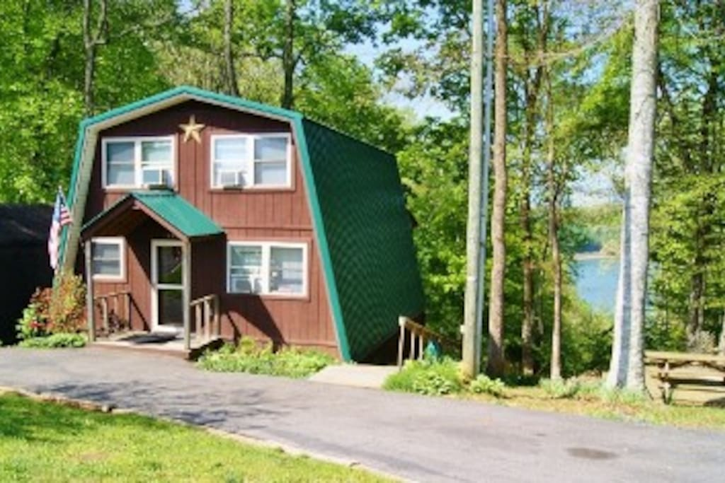 Cabin overlooking lake cumberland cottages for rent in for Kentucky cabins rentals
