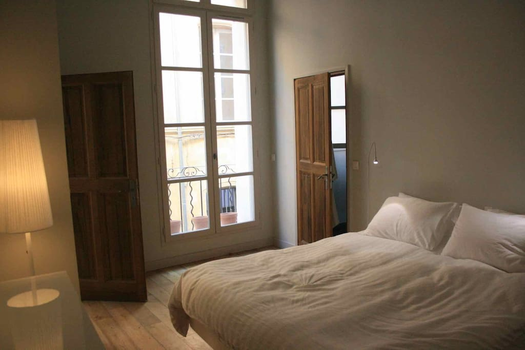 This is the en-suite bedroom, which overlooks the charming, traditional street