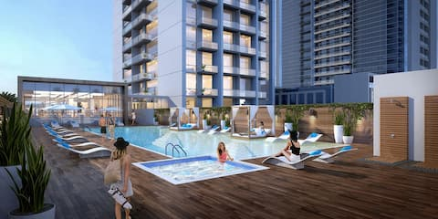 5* Dubai Marina ♡ Sunset Sea View+Balcony+Pool+Gym