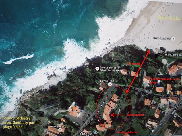 Appt T2 Refait 2016 (plage à 100m) - Bidart - Byt