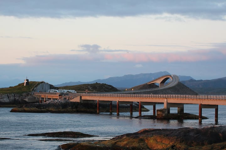At the beautiful Atlantic Road