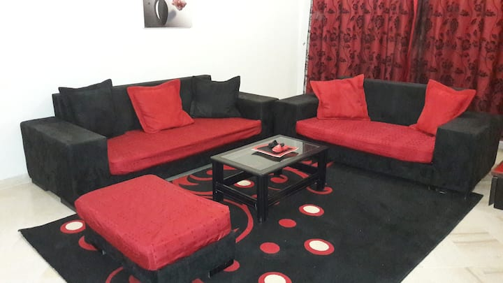 Spacious modern app richly furnished