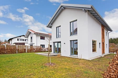 Modern Holiday Home Rimsting am Chiemsee with Wi-Fi, Garden & Terrace; Parking Available, Pets Allowed upon Request