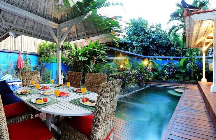 300 M TO LEGIAN BEACH- Balinese Private Pool Villa