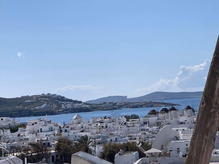 Sunset View Studio in Mykonos Town Best Location