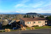We're perched on Mt. Tabor, the views are stunning.  And in the other direction, we're nestled practically right up against wonderful Mt. Tabor Park!