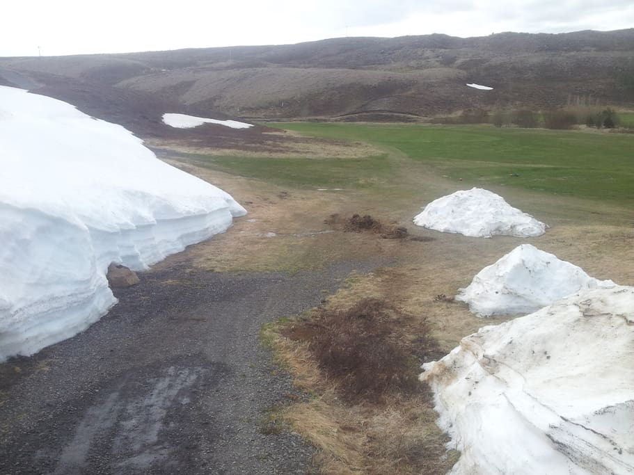 The local golf cours at Husavík in mai 2014