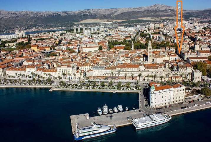 """Superb location of the apartment Angel, Split, Croatia """"Great location practically in the palace nearby the train and bus station where the airport bus drops you in Split. Great amenities with dishwasher and washing machine."""" Lauren"""