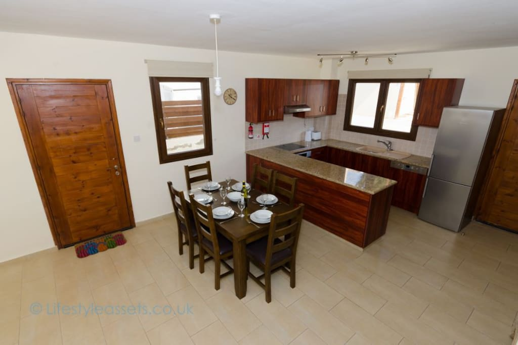 Fully equipped kitchen dining are