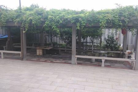 黎里古镇附近+临河乡村洋房双人床+院落+露天阳台 - Suzhou - Villa