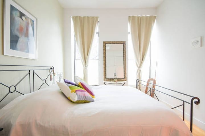 Private bedroom with lots of light, and ensuite bathroom