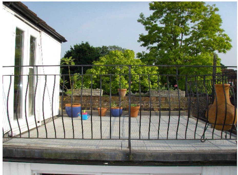 Roof terrace accessed from bedroom three