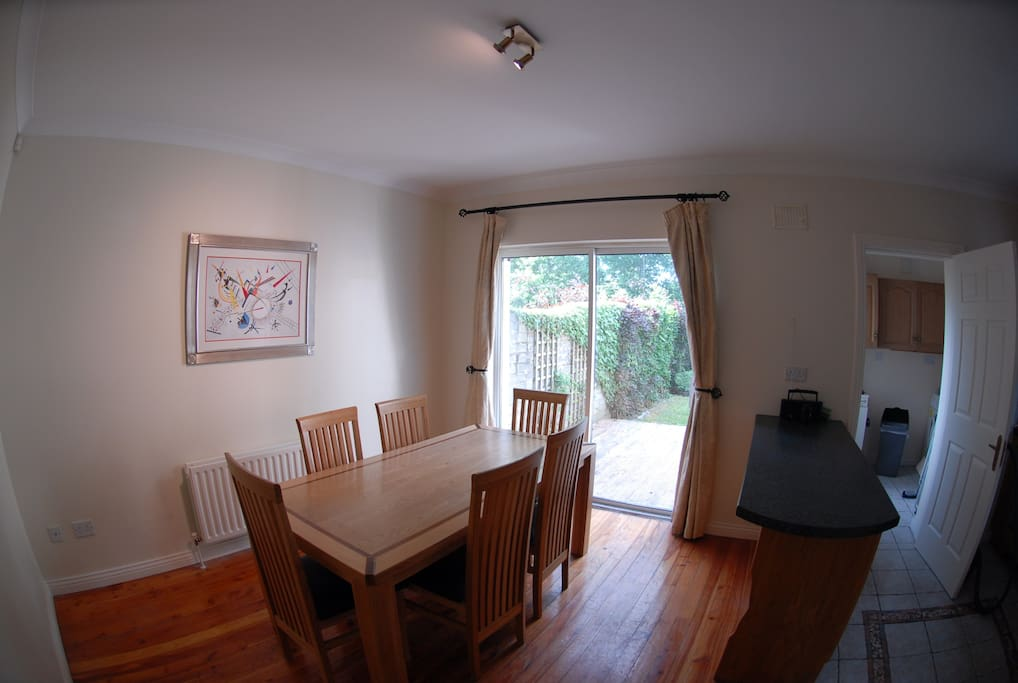 Kitchen / Dining area. Seats 6 - 8 people.