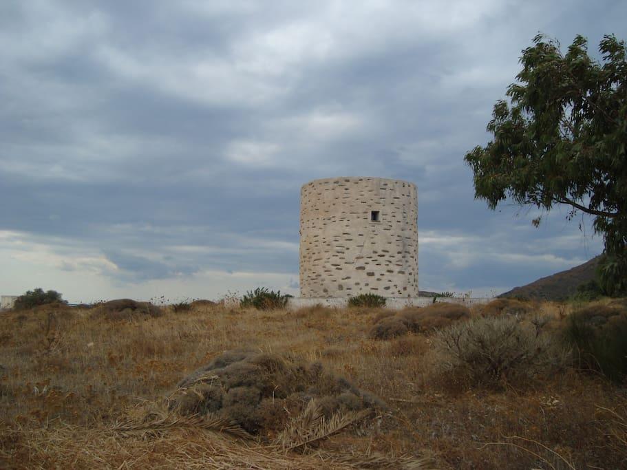 Nearby refurbished windmill