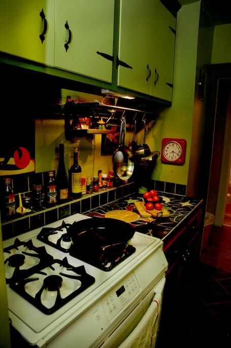 Modern gas stove/electric oven for home cooked meals