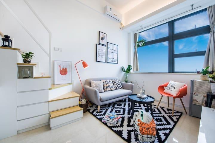 厦门-Amoy假日 2号短租民宿公寓 BRT沿线复式 - Xiamen - Apartament