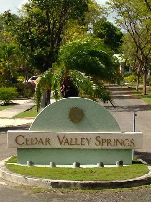 Entrance to Cedar Valley Springs.