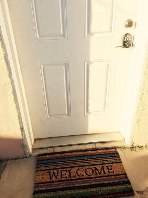 Welcome to our little house.  We hope you enjoy it.  Keypad access to help reduce the hassle of a key.