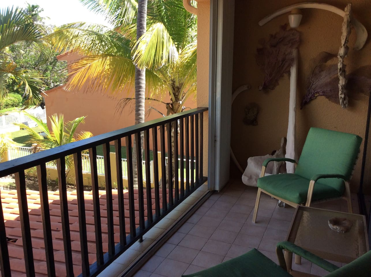 Enjoy the views and the breeze on the main balcony.